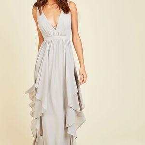 Grey Formal / Prom Dress
